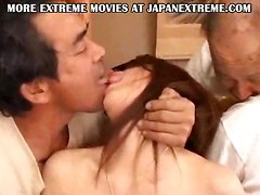 Japanese group sex lick hairy pussy gangbang