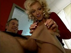 milf mom blonde big tits fetish foot stockings lingerie pussylicking ass licking handjob blowjob riding anal doggystyle cumshot