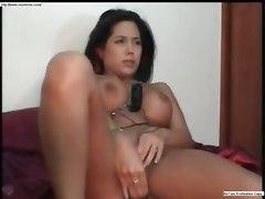 squirt masterbate dildo tits hot