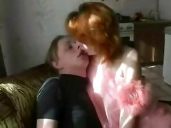 Redhead old mature mother fucked hard by her son at home hidden incest