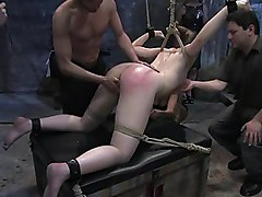 bdsm  domination  group  fmmm  dark  spanking  bondage  from behind  harder  aggressive  forced  emotional  white  anal  scream Sarah Shevon  Benjamin Brat