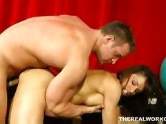 cumshot hardcore milf blowjob titjob bigtits pussylicking pussyfucking gym