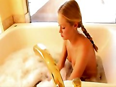 blond cute bathroom shave shaving smalltits