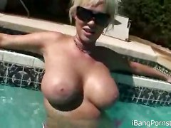 tight blonde glasses pornstar ass panties lingerie cameltoe outdoor public teasing solo tight masturbation fingering pool wet big tits