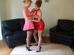 Lesbians Sex Toys Stockings