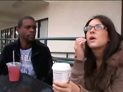 interracial blowjob handjob glasses brunette reality tight skinny face fuck riding anal cumshot facial big dick teasing rubbing
