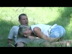 blond homemade amateur couple handjob blowjob riding doggystyle cumshot milf deepthroat face fuck gagging outdoor reality tight teasing fingering piercing