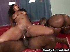 anal black oiled threesome ebony fishnet blackwoman bigass