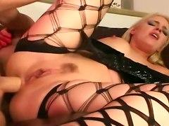 hot blonde anal sex deep throat hardcore stockings
