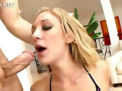 anal blonde blowjob shaved threesome boots asstomouth pussyfucking