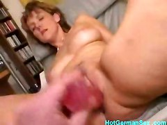 cumshot dildo blonde blowjob mature cuminmouth german cumswallow pussyplay