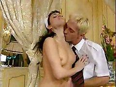 anal stockings cumshot hardcore blowjob brunette maid euro
