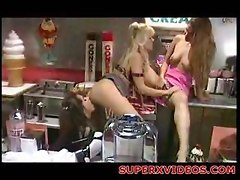 Threesome lesbians masturbation oral sex fisting