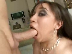 blowjob anal brunette big tits cum swallowing
