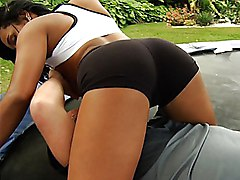 big tits  tattoo  brunette  tanned  latina  outside  cock ride  ass Loona Lux