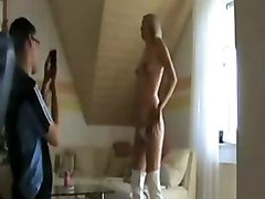fetish pregnant amateur homemade blow suck blowjob fuck sex hardcore cum load cream cumshot pussy internal creampie couple stockings blonde