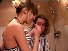 stockings cumshot facial teen hardcore blowjob handjob brunette doggystyle young pussylicking bathroom pussyfucking russian