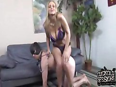 Julia Ann goes black in front of a cuckold