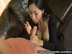 hardcore blowjob asian pantyhose straight
