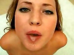 cumshot swallow pov blonde brunette red head pornstar compilation