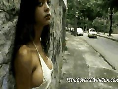 teen cumshot facial Latina Brazilian