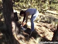 outdoors amateur handjob