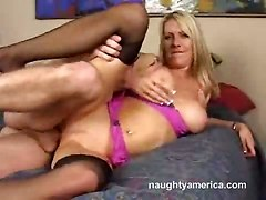 milf  blowjob pussy licking stockings hardcore boobs