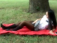 brunette  long hair  european  pantyhose  tease  outside  masturbation  blowjob  group  fmm  threesome  anal  cock ride  sandwiched  from behind  cumshot  tits cumshot  schoolgirl  college girl  mini skirt  mini Valentina Velasques