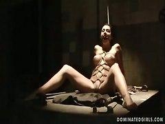 fantasy bondage masturbation busty shaved tiedup