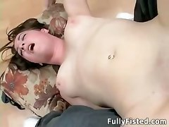 fisting fist fuck twat beautiful youn shaved pussy