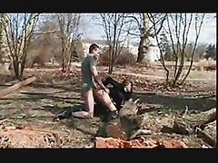 Russian College Babe Fucking With Worker In Outdoor