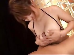 Busty Girl Rubbing Guys Cock With Her Tits Sucking Cock After Jerked Off