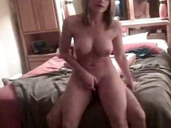 amateur homemade wife girlfriend handjob blowjob tattoo big tits blonde big dick riding ass
