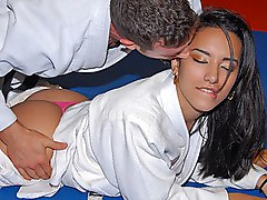 latina  sex  hardcore  fuck  brunette  long hair  role  uniform  sporty  blowjob  brazilian  from behind  on side Nina Lee  Jordan Ash