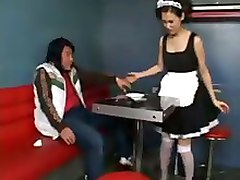 Asian Teen Maid Cosplay Teens 18  Cum BJ HJ Asian