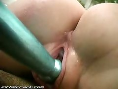 dildo solo wet ass blonde toys vibrator pussy masturbation