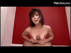 Asian Girl On Her Knees Giving Blowjob For Many Guys Spitting Cums