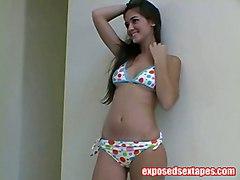 solo teen softcore teasing bikini brunette p