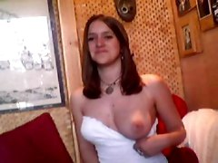amateur homemade brunette big tits natural solo webcam girlfriend teasing pussy panties striptease webcam