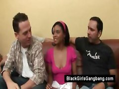 ebony gangbang interracial black teen cumshot