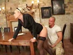 stockings cumshot facial hardcore blonde milf blowjob fingering deepthroat pussylicking table pussytomouth pussyfucking