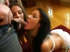 Pornstar Groupsex Threesome Brunette Blowjob Double Blowjob Deepthroat Face Fuck Gagging Big Tits Facial Cumshot Kissing