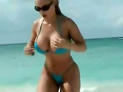coco celebrities blonde strip ass booty bikini