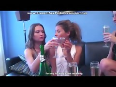 student reality teen lesbian party shower drunk champagne college euro