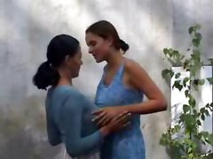 outdoor kissing lesbian tight wet teasing rubbing big tits natural brunette reality panties pussylicking european babe masturbation close up ass fingering