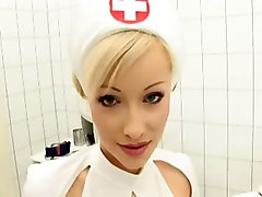 latex nurse shaved pussy