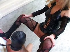 stockings blonde brunette boots bdsm fetish pissing femdom