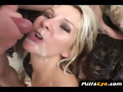 mom mother wife cougar housewife milf cumshot facial