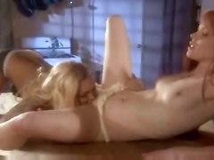 lesbian blonde tattoo fingering redhead kitchen pussylicking highheels
