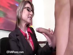 Sexy MILF Sucks Cock And Gives Titty Fuck